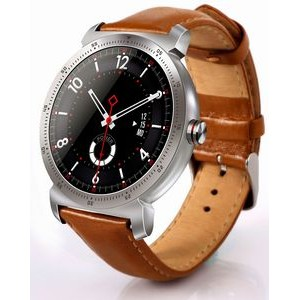 The Chairman Sport Smart Watch Executive Style Leather Band Fully Compatible with Android and IOS.